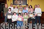M E M B E R S :.Members of St.John of God Kerry.Services who were.presented with.certificates on.Thursday night at.The Grand Hotel,.Tralee, for their.involvement in the.client representative.group. Front lr:.Aine Murphy,.Mary Nelligan,.Eilis Hardy, Breda.O'Sullivan and.Margaret Enright..Back l-r: Jaki Dennehy.(St John of.God), Billy Galvin,.Ann Shanahan,.Martin Sheehan,.Pat Deane, Helen.Roche, Claire.O'Dwyer, Jenny.Noonan and Mike.McHale.