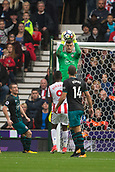 30th September, bet365 Stadium, Stoke-on-Trent, England; EPL Premier League football, Stoke City versus Southampton; Southampton's goalkeeper Fraser Forster makes a save
