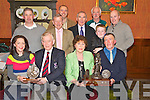 Anne O'Keeffe, pictured as she presented the Sean O'Keeffe Memorial trophy to Tommy Griffin, Legion GAA club, after they won the overall prize in the Killarney St Patricks Day parade, in the International Hotel, Killarney on Thursday night. Also pictured are Stella Moloney, Cllr Sean O'Grady, Timmy O'Donoghue, Cllr Donal Grady, Brian Looney, Weeshie Fogarty, Denny Murphy, Ian Walsh and Martin Walsh.....