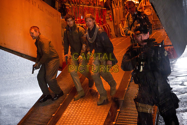Elyes Gabel, Brad Pitt &amp; John Gordon Sinclair <br /> in World War Z (2013) <br /> *Filmstill - Editorial Use Only*<br /> CAP/FB<br /> Image supplied by Capital Pictures