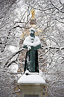 December 9, 2011; Fr. Sorin Statue. Photo by Barbara Johnston/University of Notre Dame.