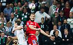 Stockholm 2015-07-27 Fotboll Allsvenskan Hammarby IF - IFK Norrk&ouml;ping :  <br /> Norrk&ouml;pings Emir Kujovic i en duell med Hammarbys Philip Haglund under matchen mellan Hammarby IF och IFK Norrk&ouml;ping <br /> (Foto: Kenta J&ouml;nsson) Nyckelord:  Fotboll Allsvenskan Tele2 Arena Hammarby HIF Bajen IFK Norrk&ouml;ping