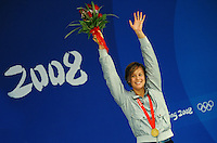 Federica Pellegrini Italia Medaglia d'oro e record del mondo 200m stile libero.Gold Medal and World record .National Aquatics Centre.Pechino - Beijing 13/8/2008 Olimpiadi 2008 Olympic Games.Foto Andrea Staccioli Insidefoto