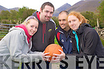 Enjoying the Wildcats Basketball Club, Ballybunnion ahead of their sponsored climb of Carrauntoohil, in aid of the community centre extension, on Saturday were JoJo O'Sullivan, Mike Walsh, Gavin Daly and Marguerite Purtill.