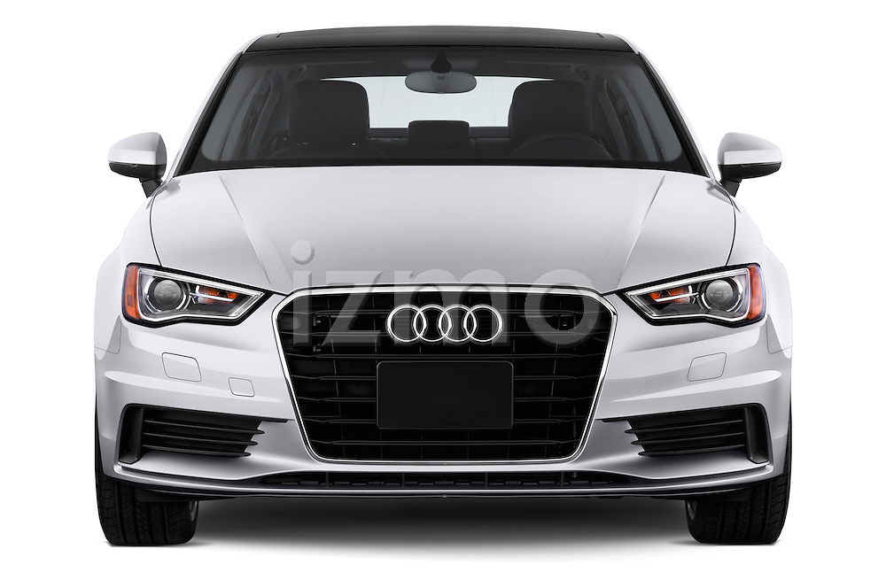 Straight front view of a 2015 Audi A3 2.0 T DSG 4 Door Sedan