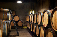 Domaine Clos Marie. Pic St Loup. Languedoc. Barrel cellar. France. Europe.