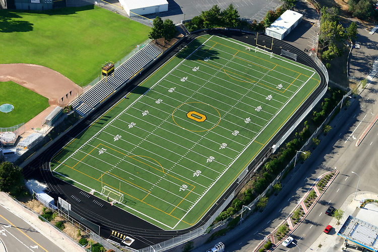 June 19, 2005; Oakland, CA, USA; Aerial view of the Bishop O'Dowd High School football field in Oakland, CA. Photo by: Phillip Carter