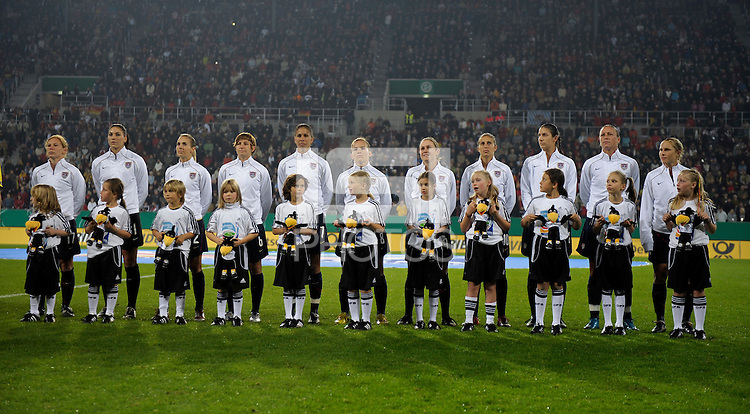USWNT Starting Eleven. US Women's National Team defeated Germany 1-0 at Impuls Arena in Augsburg, Germany on October 29, 2009.