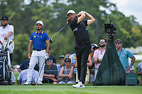 Tommy Fleetwood (ENG) watches his tee shot on 4 during round 2 of the 2019 Tour Championship, East Lake Golf Course, Atlanta, Georgia, USA. 8/23/2019.<br /> Picture Ken Murray / Golffile.ie<br /> <br /> All photo usage must carry mandatory copyright credit (© Golffile | Ken Murray)