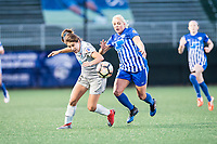 Boston, MA - Sunday May 07, 2017: Sam Witteman and Adriana Leon during a regular season National Women's Soccer League (NWSL) match between the Boston Breakers and the North Carolina Courage at Jordan Field.