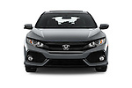 Car photography straight front view of a 2017 Honda Civic EX 5 Door Hatchback Front View