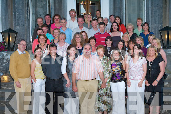 RETIREMENT: Robert Barney Barnes, (front centre), Farmers Bridge enjoying his retirement party with family and friends after over 25 years Radiographer with St Catherine's and Kerry General Hospitals at Ballyseede Castle on Thursday.   Copyright Kerry's Eye 2008