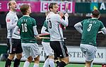 AMSTELVEEN - Mirco Pruyser (Adam) en Billy Bakker (Adam)   tijdens de hoofdklasse competitiewedstrijd heren, AMSTERDAM-ROTTERDAM (2-2). COPYRIGHT KOEN SUYK