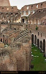 Equestrian Level Seating Foundations and Vaults under Plebian Seats Colosseum Rome