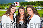 Deirdre and Suzanne Hanley with Fiona Rosenholz enjoying the fun at the Killlarney Races on Monday evening