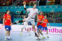 Spain and Croatia during 23rd Men's Handball World Championship preliminary round match, in the pic: Igor Vori. January 19 ,2013. (ALTERPHOTOS/Caro Marin) /NortePhoto