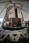 The rear of SpaceX's C1 Dragon Capsule which flew in space on December 8, 2011.  SpaceX became the first commercial company in history to re-enter a spacecraft from Earth orbit.