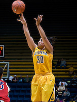 Mikayla Lyles of California shoots the ball during the game against St. Mary's at Haas Pavilion in Berkeley, California on November 15th, 2012.  California defeated St. Mary's, 89-41.