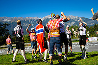 Picture by Alex Whitehead/SWpix.com - 28/09/2018 - Cycling - UCI 2018 Road World Championships - Innsbruck-Tirol, Austria - U23 Men's Road Race. fans, supporters.