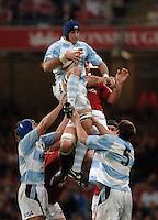 2005 British & Irish Lions vs Pumas [ Argentina], at The Millennium Stadium, Cardiff, WALES match played on  23.05.2005, Juan Manual Leguizamon.Photo  Peter Spurrier. .email images@intersport-images...