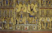 Schnitzaltar von 1430 in St.Nikolai in Wismar, Mecklenburg-Vorpommern, Deutschland, UNESCO-Weltkulturerbe