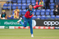 Mohammad Nabi (Afghanistan), with four wickets, including three in one over helped reduced Sri Lanka from 140-1 to 180-8 during Afghanistan vs Sri Lanka, ICC World Cup Cricket at Sophia Gardens Cardiff on 4th June 2019