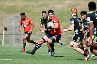 Kazuki HIMENO (姫野 和樹) in action during the Hurricanes Hinters v Wolfpack at Jerry Collins Stadium, Porirua, New Zealand on Friday 29 March 2019. <br /> Photo by Masanori Udagawa. <br /> www.photowellington.photoshelter.com