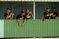 21 May 2009: Team Clermont-Ferrand celebrates in the dugout during the 2009 challenge de France, a tournament with the best French baseball teams - all eight elite league clubs - to determine a spot in the European Cup next year, at Montpellier, France.