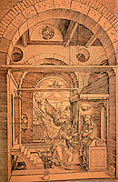 Visual Arts:  Albrecht Durer--Annunciation, a woodcut.  Probably 1502-1503.