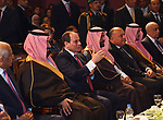 Egyptian President Abdel Fattah al-Sisi and Saudi Arabia's Crown Prince Mohammed bin Salman visit Opera House, in Cairo on March 5, 2018. Photo by Egyptian President Office