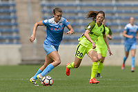 Bridgeview, IL - Sunday June 04, 2017: Sofia Huerta, Rumi Utsugi during a regular season National Women's Soccer League (NWSL) match between the Chicago Red Stars and the Seattle Reign FC at Toyota Park. The Red Stars won 1-0.