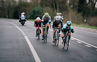 Magnus Cort Nielsen (DEN/Astana) & friends speeding down the Nieuwe Kwaremont<br /> <br /> 71th Kuurne-Brussel-Kuurne 2019 <br /> Kuurne to Kuurne (BEL): 201km<br /> <br /> ©kramon