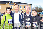 Mairead Foley Ballyhar, Mike Finerty Fenit, Teddy Reynolds Tralee and Maria Moriarty Farranfore who competed at the Puck Warriors Jingle run 10km in Killorglin on Saturday..