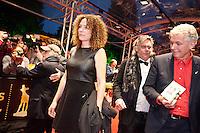 Utrecht, 25 september 2013<br /> Nederlands Film Festival 2013<br /> Openingsavond: Antoinette Beumer op de rode loper. <br /> Rechts passeren Jeroen Wielaert en Marc van Warmerdam<br /> Foto Felix Kalkman