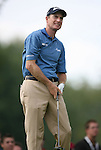 6 September 2008:   Jim Furyk grimaces after his ball landed in the rough in the third round of play at the BMW Golf Championship at Bellerive Country Club in Town & Country, Missouri, a suburb of St. Louis, Missouri. Furyk was the leader after the conclusion of round two with a score of 62.  After the first nine holes of the 18-hole third round, Furyk was 11 under-par.  The BMW Championship is the third event of the Fed Ex Cup and the top 30 finishers will qualify for the next event of the championship.