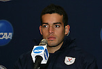 12 December 2009: Diego Restrepo. The University of Virginia Cavaliers held a press conference at WakeMed Soccer Stadium in Cary, North Carolina on the day before playing Akron in the NCAA Division I Men's College Cup championship game.