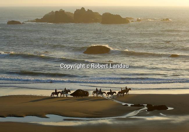 Horseback riding at Bandon Beach, OR