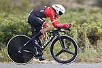 Alberto Contador (ESP) Trek-Segafredo in action during Stage 16 of the 2017 La Vuelta, an individual time trial running 40.2km from Circuito de Navarra to Logro&ntilde;o, Spain. 5th September 2017.<br /> Picture: Unipublic/&copy;photogomezsport | Cyclefile<br /> <br /> <br /> All photos usage must carry mandatory copyright credit (&copy; Cyclefile | Unipublic/&copy;photogomezsport)