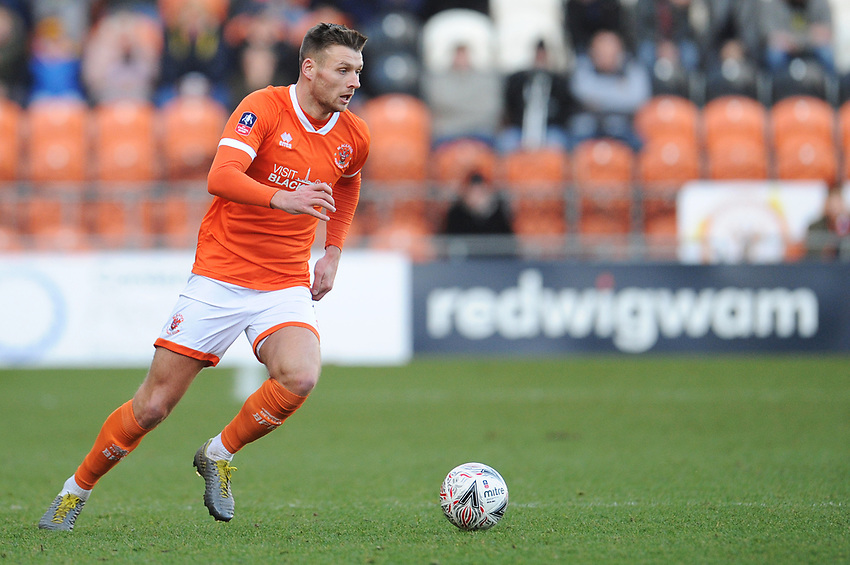 Blackpool's Ryan Edwards<br /> <br /> Photographer Kevin Barnes/CameraSport<br /> <br /> Emirates FA Cup Second Round - Blackpool v Maidstone United - Sunday 1st December 2019 - Bloomfield Road - Blackpool<br />  <br /> World Copyright © 2019 CameraSport. All rights reserved. 43 Linden Ave. Countesthorpe. Leicester. England. LE8 5PG - Tel: +44 (0) 116 277 4147 - admin@camerasport.com - www.camerasport.com