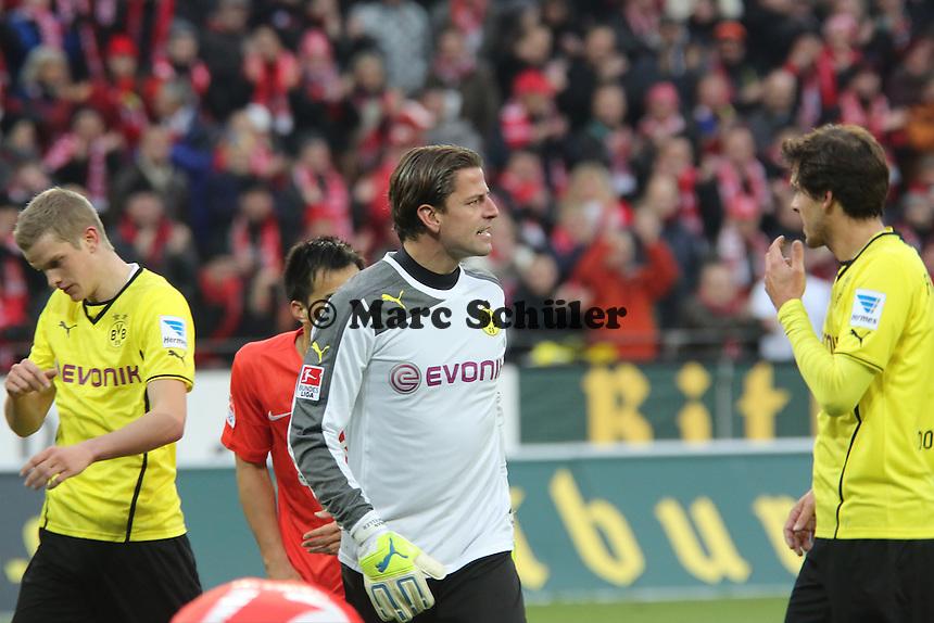 Robert Weidenfeller (BVB) regt sich auf - 1. FSV Mainz 05 vs. Borussia Dortmund, Coface Arena, 14. Spieltag