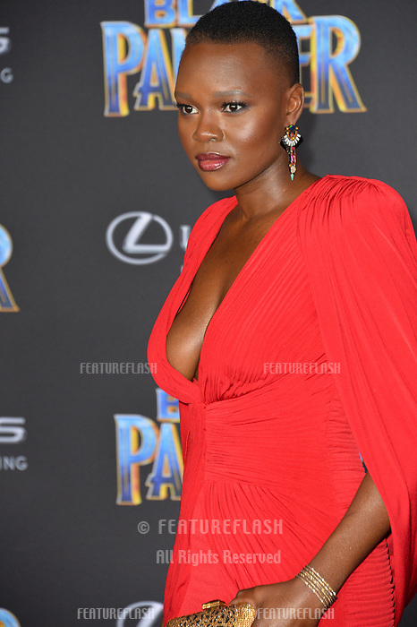 Shaunette Renee Wilson at the world premiere for &quot;Black Panther&quot; at the Dolby Theatre, Hollywood, USA 29 Jan. 2018<br /> Picture: Paul Smith/Featureflash/SilverHub 0208 004 5359 sales@silverhubmedia.com