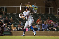 Scottsdale Scorpions designated hitter Peter Alonso (20), of the New York Mets organization, at bat during an Arizona Fall League game against the Salt River Rafters at Salt River Fields at Talking Stick on October 11, 2018 in Scottsdale, Arizona. Salt River defeated Scottsdale 7-6. (Zachary Lucy/Four Seam Images)