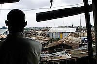 Nairobi .vista  dello slum di Korogocho alla periferia di Nairobi   ..Nairobi: a general view of Korogocho slum