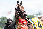 07172020:Tyler Gaffalione wins on Universal Payday trained by Michael J Trombetta at Saratoga 2020 <br /> Robert Simmons/Eclipse Sportswire