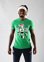 Pictured: Leroy Fer<br /> Swansea City FC and Ospreys RFC Christmas photo shoot at the Fairwood Trainining Ground, near Swansea, Wales, UK. 17 October 2017
