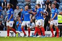 Ben Close of Portsmouth (33) celebrates after scoring the second goal  during Portsmouth vs Birmingham City, Caraboa Cup Football at Fratton Park on 6th August 2019