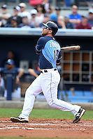 Tampa Bay Rays second baseman Ben Zobrist (18) during a spring training game against the Boston Red Sox on March 25, 2014 at Charlotte Sports Park in Port Charlotte, Florida.  (Mike Janes/Four Seam Images)