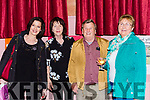 Una Cronin, Margaret Murphy, Val Moynihan and Julia Lynch at the Friends of Chernobyl fashion show in Rathmore on Thursday night
