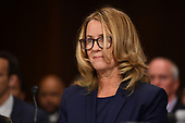 Christine Blasey Ford, the woman accusing Supreme Court nominee Brett Kavanaugh of sexually assaulting her at a party 36 years ago, testifies during his US Senate Judiciary Committee confirmation hearing on Capitol Hill in Washington, DC, September 27, 2018. SAUL LOEB / AFP / POOL / AFP PHOTO / POOL / Saul LOEB