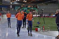 SPEEDSKATING: HAMAR: Vikingskipet, 28-02-2020, ISU World Speed Skating Championships, Marcel Bosker (NED), Ireen Wüst (NED), ©photo Martin de Jong